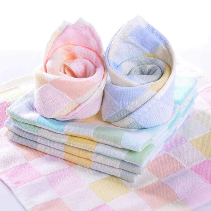 [해외]어린이 면화 타월 아동용 두꺼운 거즈 & 스퀘어 투수 범용 타월 휴대용 타월/Children&s cotton towels Children&s double gauze&s square Water-permeable multi-purpose towels Port