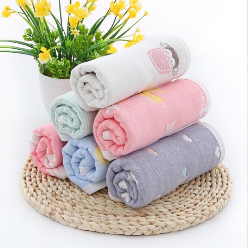 [해외]아기 수건 25 * 50 cm 6 레이어 코 튼 어린이 & s 타월 부드러운 만화 타월 아기 목욕 타월 신생아 아기 얼굴 샤워 Handkerchef/Baby Towel 25*50 cm 6 Layers Cotton Children&s Towels Soft