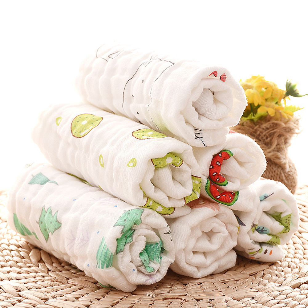 [해외]아기 스퀘어 타월 6 레이어 가제 목욕 타올 유아 얼굴 타월 천으로 신생아 C013을소프트 퓨어 코튼 위킹 타월/Baby Square Towels 6 Layers Gauze Bath Towel Infant Face Towel  Cloth Soft Pure Cot