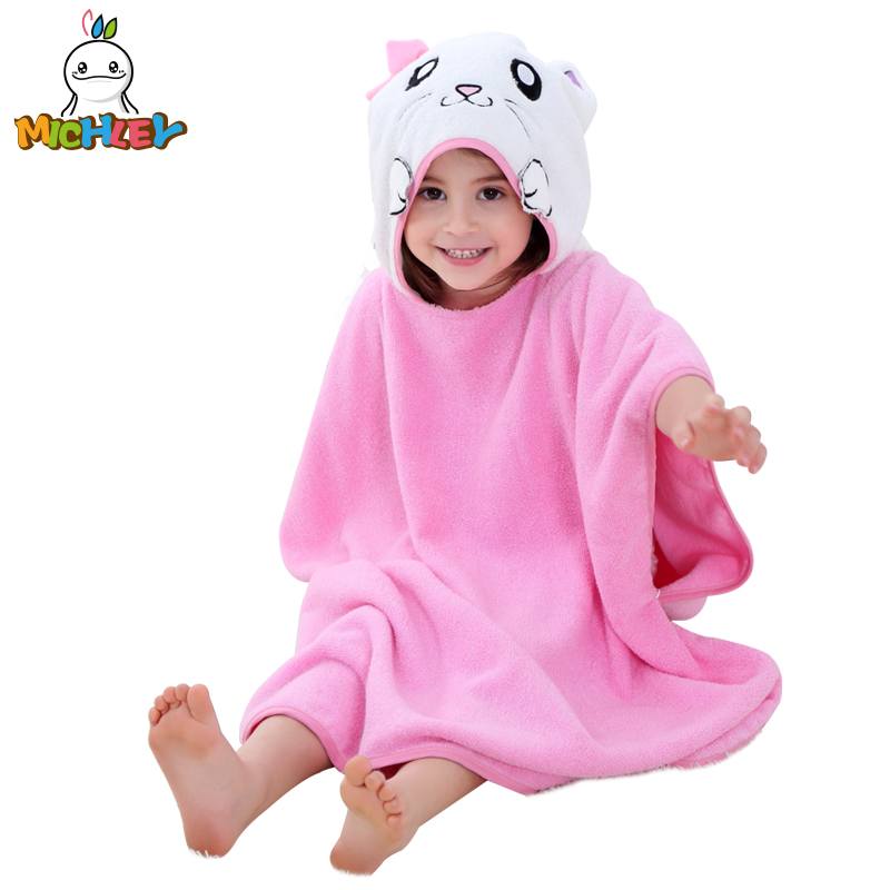 [해외]미슐리 어린이 목욕 가운 2018 신생아 소년 두건 만화 파자마 소녀 귀여운 동물 귀 목욕 가운 아기 다채로운 면화 타월 수/MICHLEY Children Bathrobe 2018 Newborn Boy Hooded Cartoon Pajamas Girl Cute