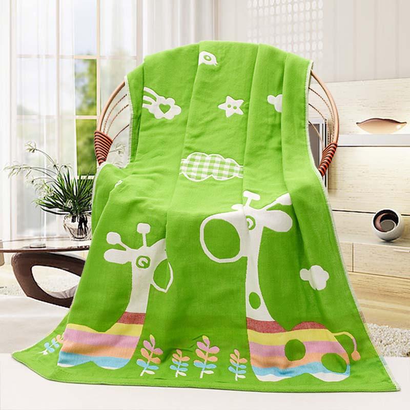 [해외]아기 수건 70x140cm 3 레이어 유기 면화 거즈 소재 어린이 타월 부드러운 만화 수건 베이비 목욕 타월 신생아 들어/Baby Towel 70x140cm 3 Layers Organic Cotton gauze Material Children Towels Sof
