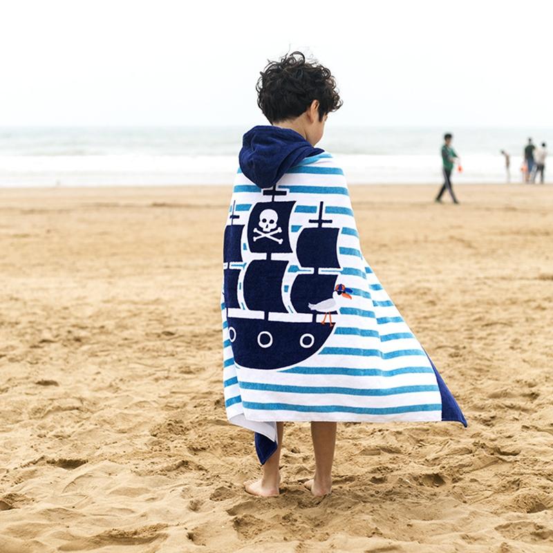 [해외]어린이 및 어린이 만화 목욕 타월 어린이의 두꺼운 면화 비치 타월 길어 아동은 후드 타월을 입을 수 /Children&s cartoon bath towels Children&s lengthened thick cotton beach towel Children ca