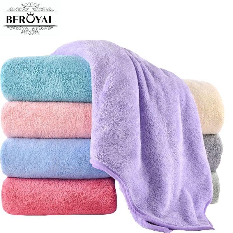 [해외]Beroyal 브랜드 성인을슈퍼 흡수성 목욕 타월 대형 여름 목욕탕 바디 스파 스포츠 럭셔리 마이크로 화이버 타올 140x70cm/Beroyal Brand Super Absorbent Bath Towels for Adults Large Summer Bathroo