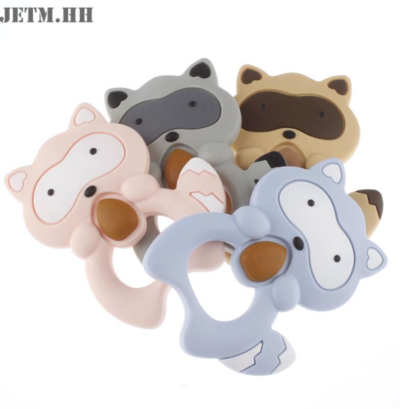 [해외]4PC 다람쥐 실리콘 베이비 젖니얼 펜던트 목걸이 액세서리 너구리 Teether BPA 무료 Teethers 유아 치아 장난감 선물 JETM.HH/4PC Squirrel Silicone Baby Teething Pendant Necklace Accessories