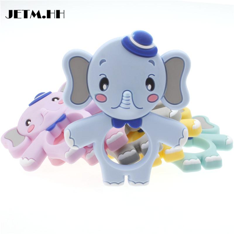 [해외]코끼리 Teether 실리콘 아기 귀여운 펜 던 트 10pcs Bpa 무료 치과 치료 목걸이 액세서리 실리콘 아기 젖니가 장난감 JETM.HH/Elephant Teether Silicone Baby Cute Pendant 10pcs Bpa Free Dental