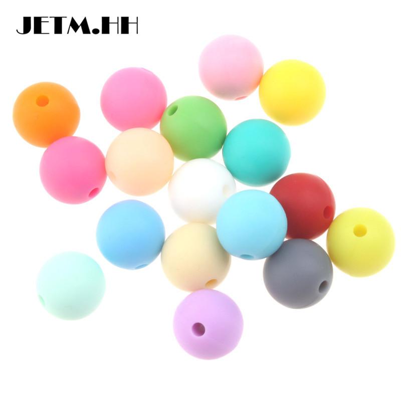 [해외]100pcs 10mm 둥근 실리콘 Teether 쥬얼리에 대 한 느슨한 비즈 Bpa 무료 Diy 아기 젖꼭지 만드는 체인 JETM.HH를 부드럽게하려면/100pcs 10mm Round Silicone Teether Loose Beads  For Jewelry M