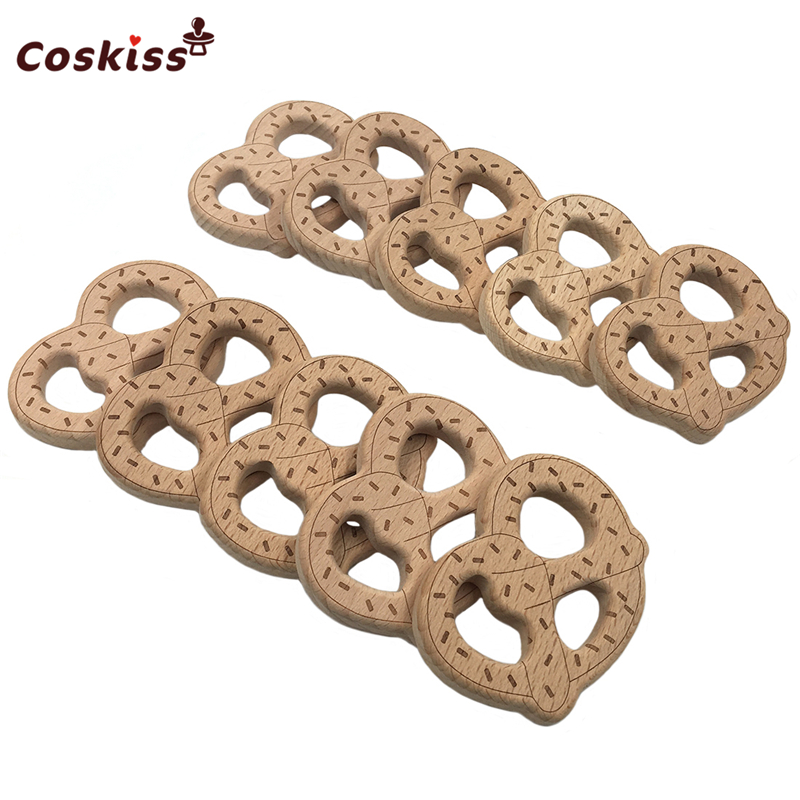 [해외]나무 빵 스틱 젖니가 나무 pretzels 씹기 teether 펜던트 목걸이 / 팔찌 간호 장난감 아기 놀이 체육관/Wooden Bread Stick Teething Wood pretzels Chew Teether Pendant For Necklace/Brace