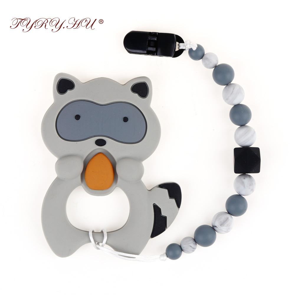 [해외]TYRY.HU 1 세트 아기 Teether 완구 실리콘 Teething Teethers 젖꼭지 클립 홀더 입가심 고통 릴리프 아기 선물 BPA 무료/TYRY.HU 1 set Baby Teether Toys Silicone Teething TeethersPacif