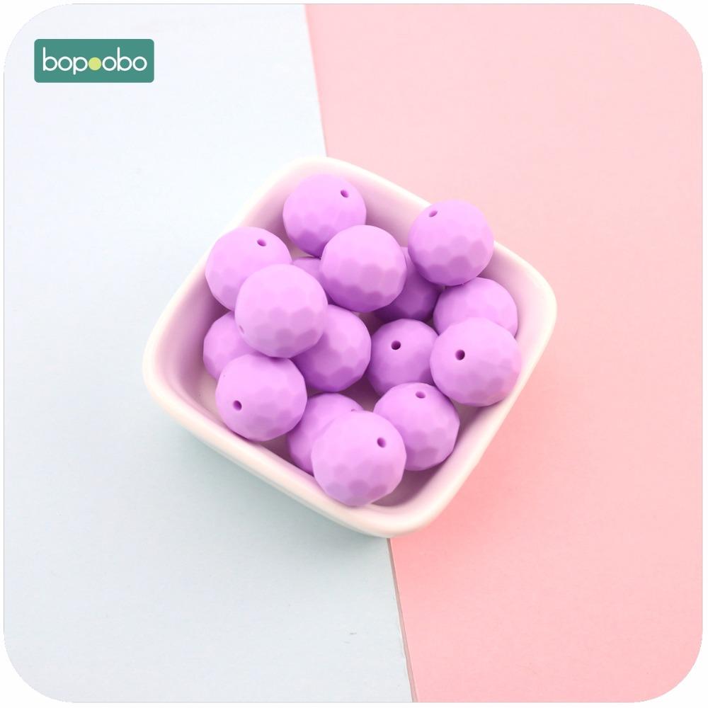 [해외]Bopoobo 실리콘 Teether 보라색 10pcs 15mm 멀티면 처리 된 비즈 DIY Teething 목걸이 만든 씹는 실리콘 구슬 아기 Teether/Bopoobo Silicone Teether Purple 10pcs 15mm Multi-faceted B