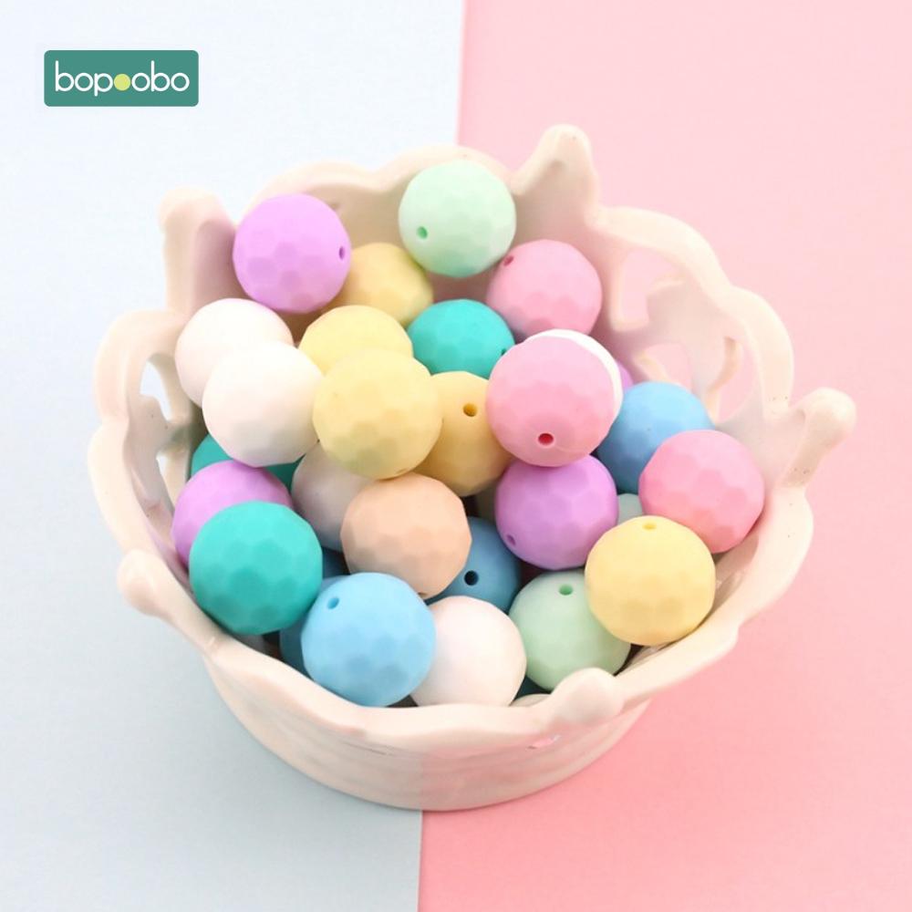 [해외]Bopoobo 아기 실리콘 Teether 멀티 면화 비즈 10pcs 15 밀리미터 DIY Teething 목걸이는 실리콘 비즈 아기 Teether 만들어/Bopoobo Baby Silicone Teether Multi-faceted Beads 10pcs 15mm