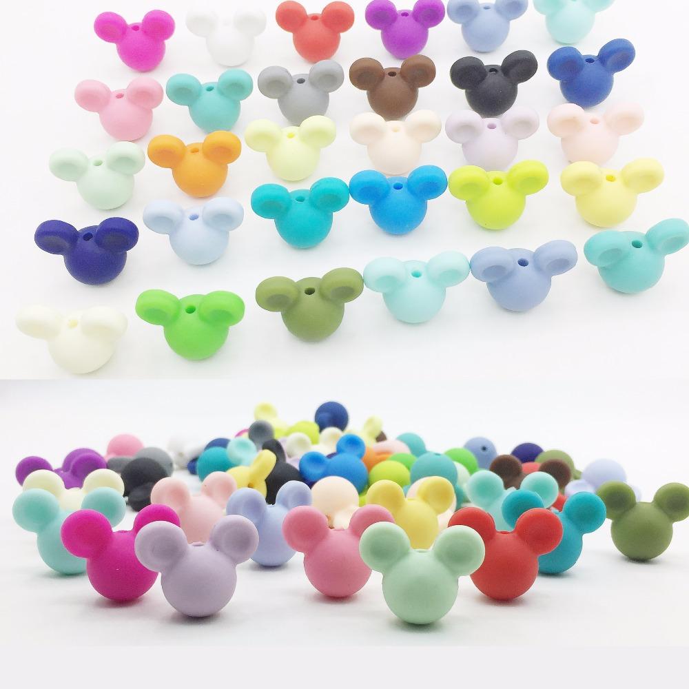 [해외]도매 Mickey 느슨한 실리콘 구슬 Teething 목걸이에 대 한 미키 실리콘 Teething 구슬 아기 Teether에 대 한 BPA 안전 느슨한 구슬/Wholesale Mickey Loose Silicone Beads for Teething Necklac