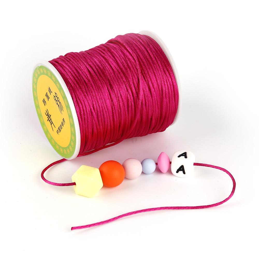 [해외]TYRY.HU 다채로운 80 미터 새틴 실크 로프 나일론 코드 아기 Teether 액세서리 젖니가 남 목걸이 Rattail 코드 DIY 도구 1.5mm/TYRY.HU Colorful 80 Meters Satin Silk Rope Nylon Cord For Bab