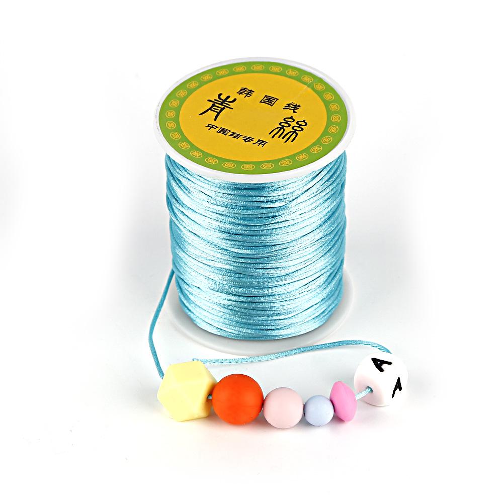 [해외]TYRY.HU 80 미터 실리콘 비즈 공예 DIY 젖빛 목걸이에 대 한 Teether 체인 액세서리 1.5 mm 새틴 실크 나일론 코드 만들기/TYRY.HU 80 meter Silicone Beads Craft Making Teether Chain Accesso