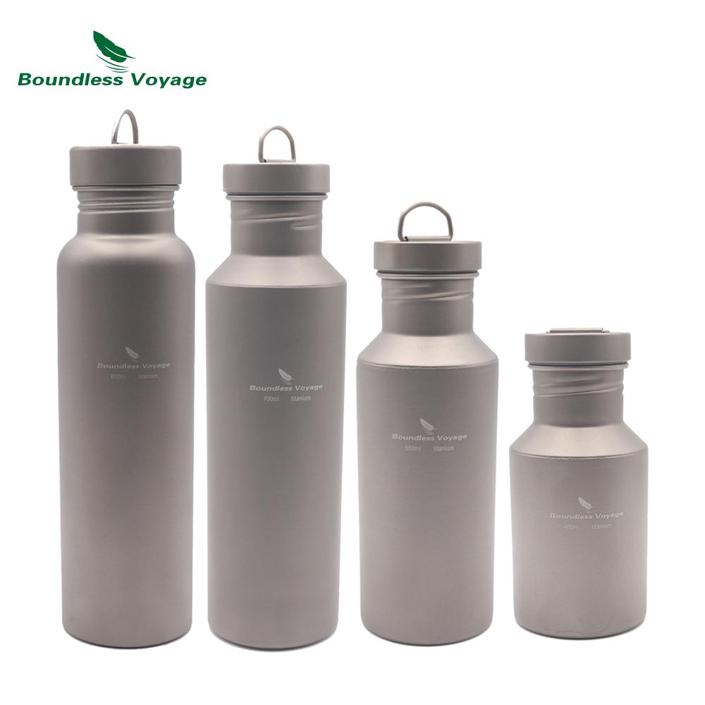 [해외]무한 항해 옥외 야영 사이클 하이킹 티타늄 스포츠 병 물 Bottle 티타늄 뚜껑 400-800ml Ti1505B/Boundless Voyage Outdoor Camping Cycling Hiking Titanium Sports Bottle Water Bottl