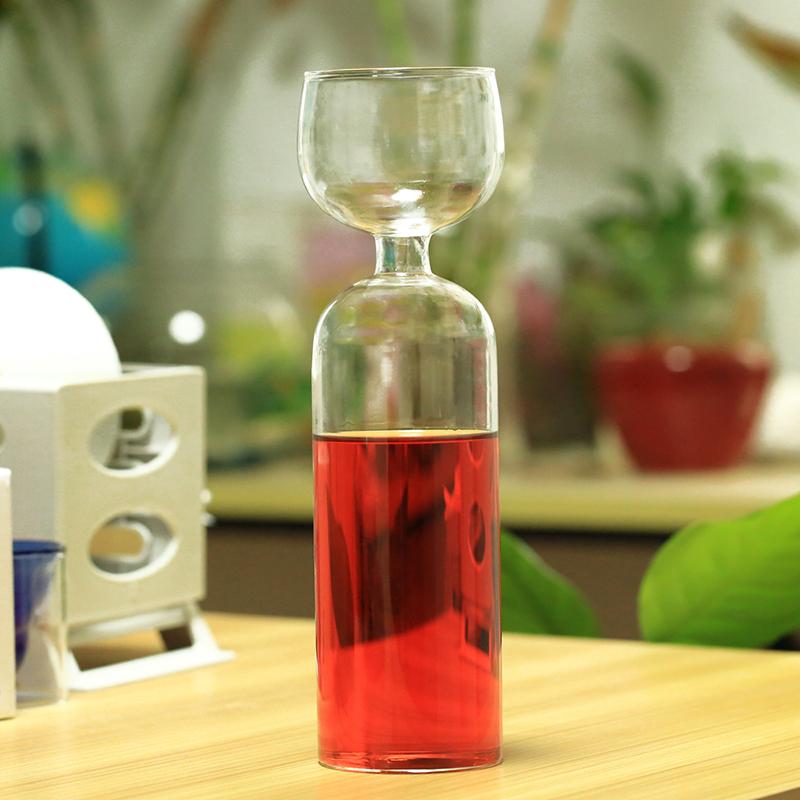 [해외]들뜬 와인 애호가 병 - 유리 위에 - 다시 채울 필요 없음/Hilarious Wine Lovers Bottle w/Glass On Top - No Need To Refill