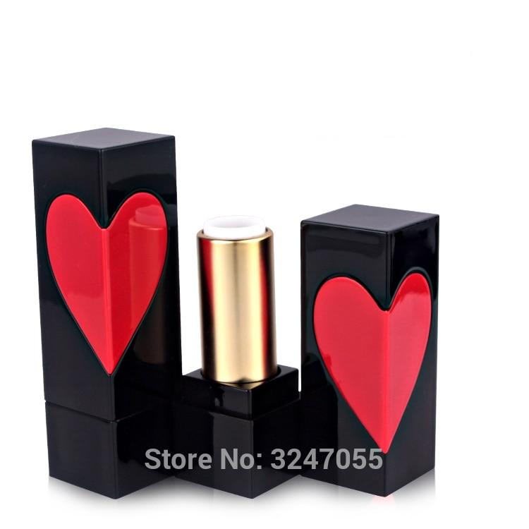 [해외]50pcs / lot 12.1mm 블랙 스퀘어 모양 화장품 립스틱 튜브, DIY 빈 붉은 마음 멋진 립 밤 포장 병, 메이크업 도구/50pcs/lot 12.1mm Black Square Shape Cosmetic Lipstick Tube, DIY Empty Re