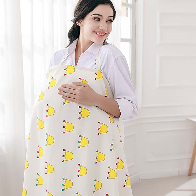 [해외]통기성 모유 수유 커버 100 % 코튼 모슬린 수유기 베이비 & 에이프런 수 유 엄마 & s 옥외 수유부 수유부 커버/Breathable breastfeeding cover 100%cotton muslin Mother feeding baby&s a