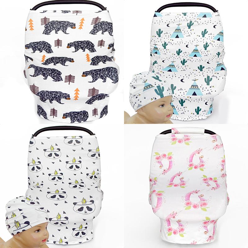 [해외]유모차를수유 커버 스카프 UniBabies를아기 카시노 캐노피 장바구니 커버 다기능 케이프 for Feeding/Nursing Cover Scarf for Breastfeeding Baby Car Seat Canopy Shopping Cart Cover for