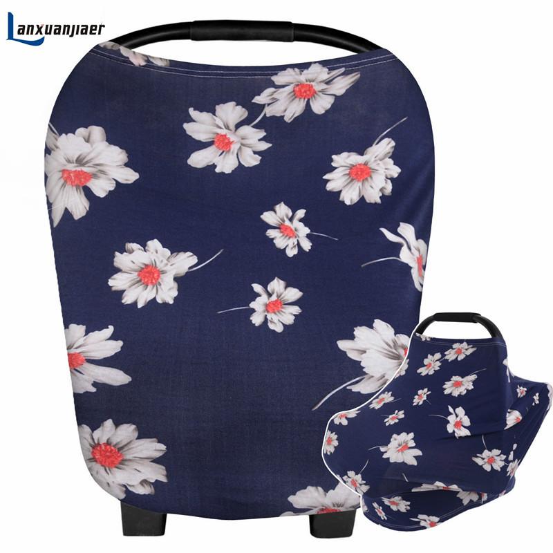 [해외]Lanxuanjiar 목화 모유 수유 커버 Multi-Use 인쇄 플로랄 베이비 카 시트 커버 레이온 간호 용품 쇼핑 카트/Lanxuanjiar Cotton Breastfeeding Nursing Cover Multi-Use Printed floral baby