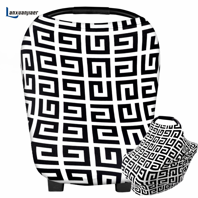 [해외]수유 간호 커버 스카프 면화 미로 패턴 아기 CarSeat 캐노피, 장바구니, 유모차 유아 소년 및 소녀 용 커버/Breastfeeding Nursing Cover Scarf cotton maze pattern Baby CarSeat Canopy, Shoppin