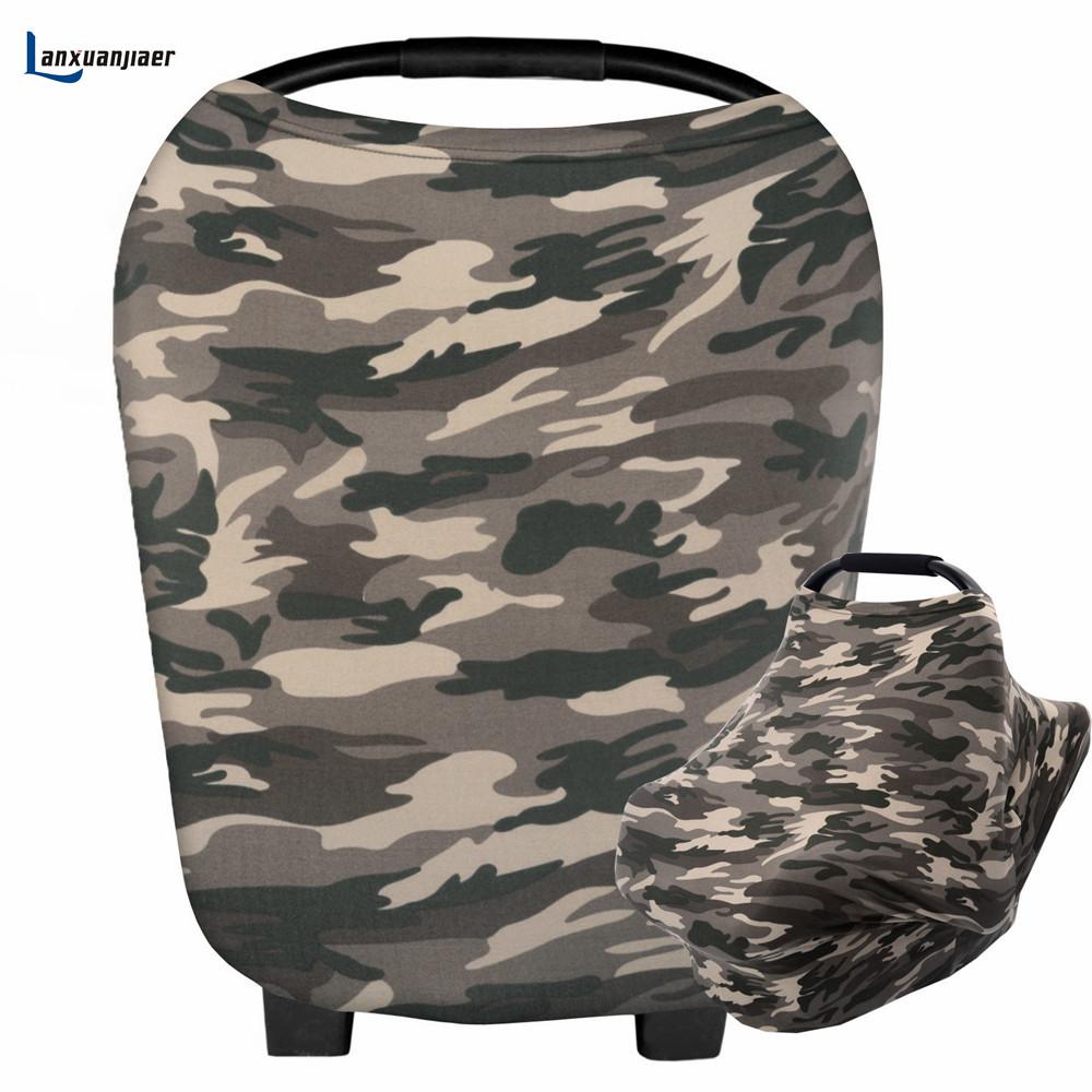 [해외]간호 커버 Carseat 캐노피, 높은 의자에 대 한 모유 스카프 인쇄 된 위장 쇼핑 카트 유모차 아기 자동차 좌석 커버/Nursing Cover Breastfeeding Scarf printed Camouflage for Carseat Canopy,High C