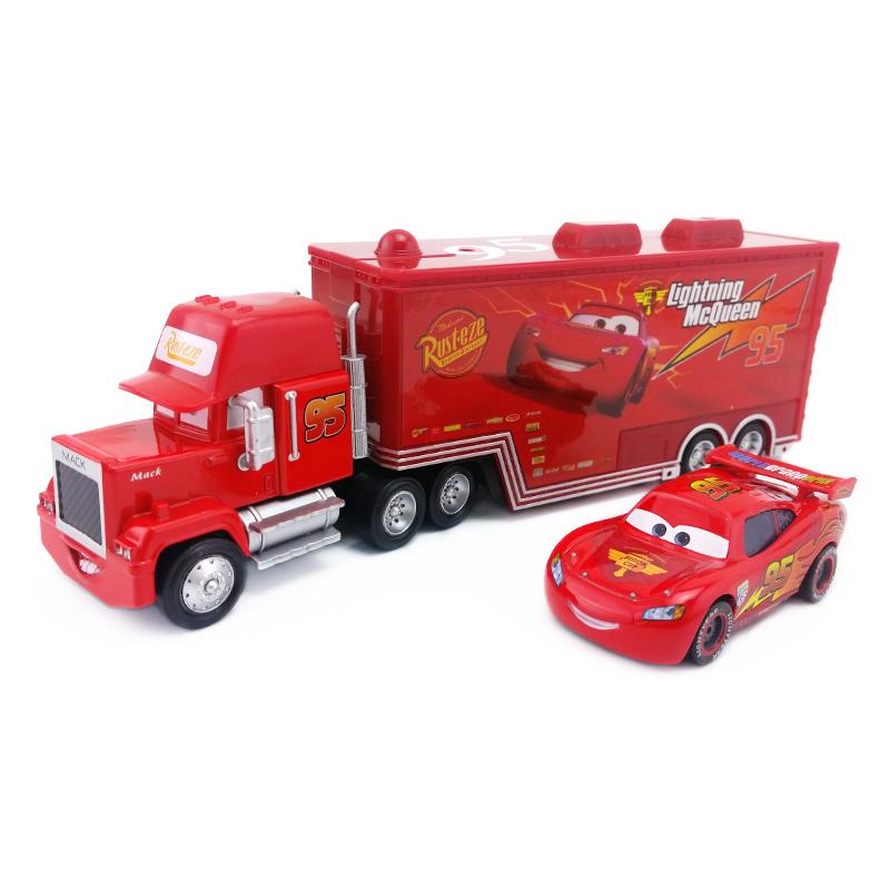 [해외]??디즈니 픽사 자동차 2PCS / 세트 번개 맥퀸 맥 삼촌 트럭 킹 병아리 힉스 장난감 자동차 모델 1:55 루즈 뉴 키즈 보이 선물/  Disney Pixar Cars 2Pcs/Set Lightning McQueen Mack Uncle Truck The Ki