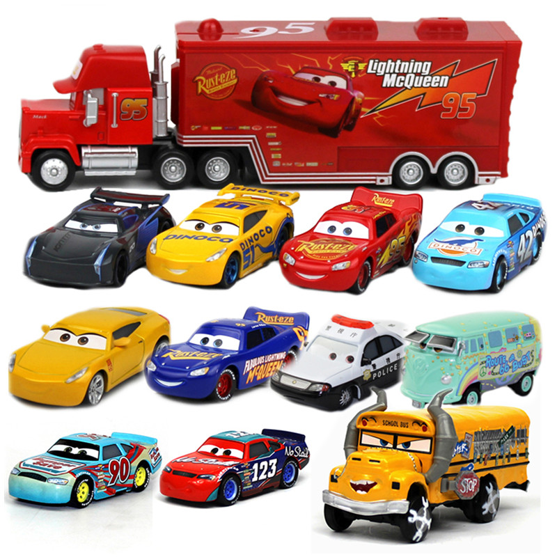 [해외]Disney Hot Movies Pixar Cars 3 새로운 역할 Miss Fritter Lightning McQueen 잭슨 스톰 크루즈 라미레즈 다이 캐스트 금속 모형 자동차 선물/Disney Hot Movies Pixar Cars 3 New Role Mi