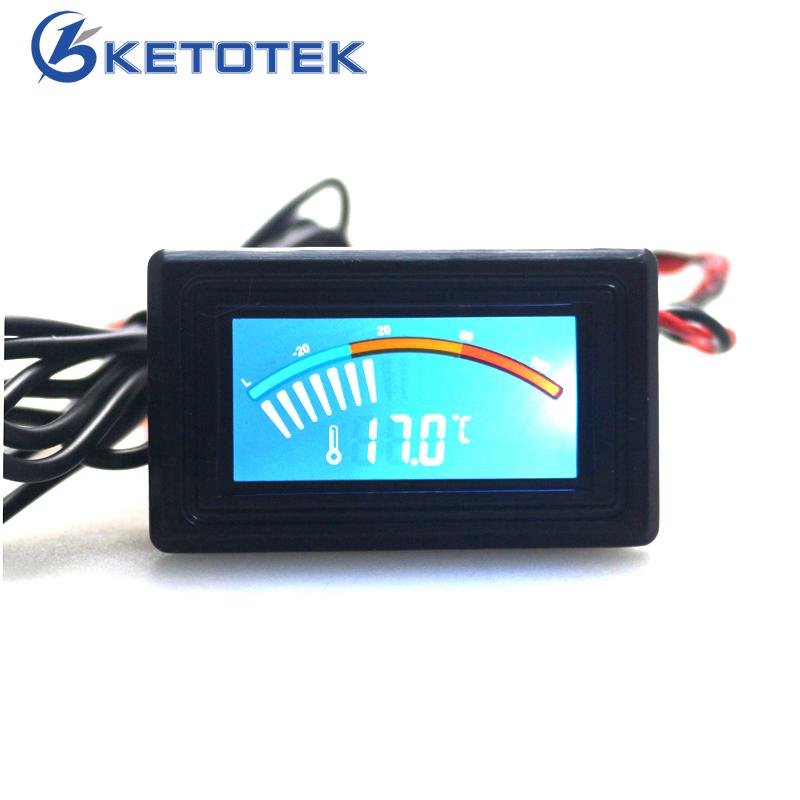 [해외]Ketotek usb 온도계 LCD 디지털 포인터 자동차 수온 측정기 게이지 C F MOD for Computer PC 수족관 보일러