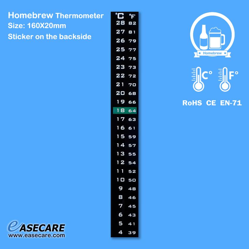 [해외]맥주 또는 와인 용 자작 온도계 (섭씨와 화씨 단위로 4-28C)/Homebrew Thermometer for Beer or Wine (4-28C in Celsius and Fahrenheit scale,  )