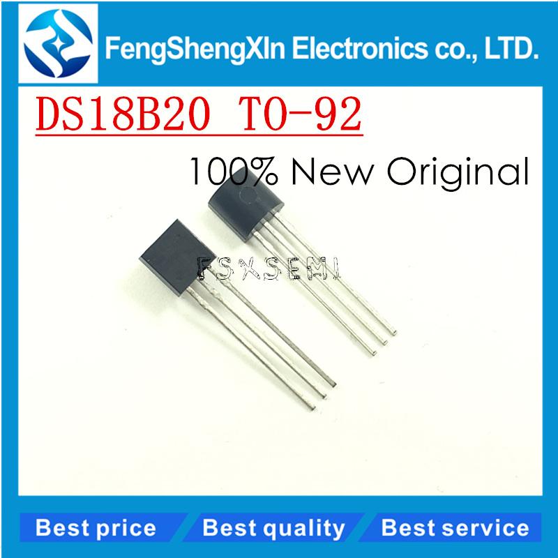 [해외]5pcs / lot 새로운 DS18B20 온도 센서 IC TO-92 온도계 18B20/5pcs/lot New DS18B20 Temperature Sensor IC TO-92 Thermometer 18B20