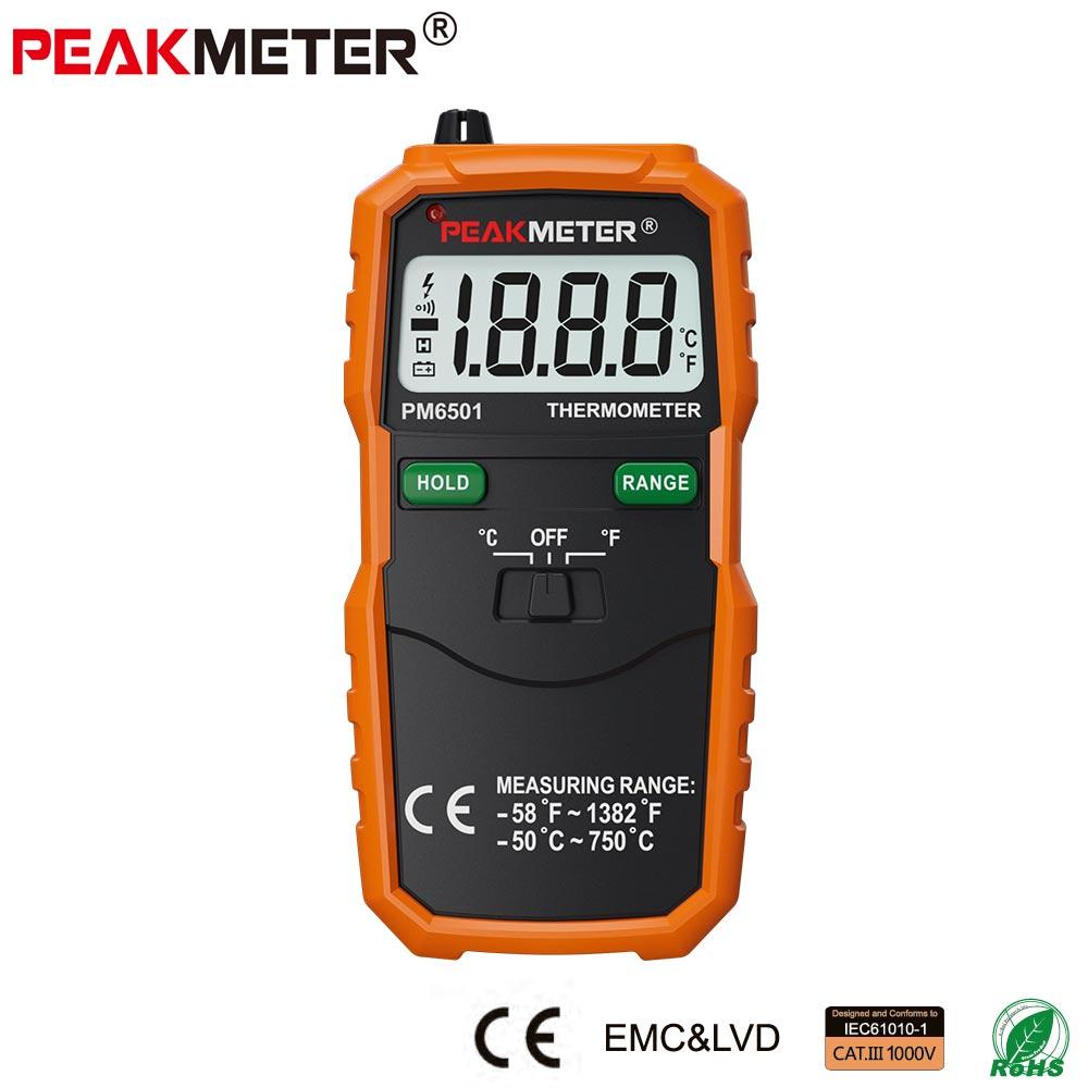 [해외]공식 PEAKMETER PM6501 LCD 디스플레이 디지털 온도계 K 유형 열전쌍 TermometroData Hold/Official PEAKMETER PM6501 LCD Display Digital ThermometerK Type Thermocouple Te
