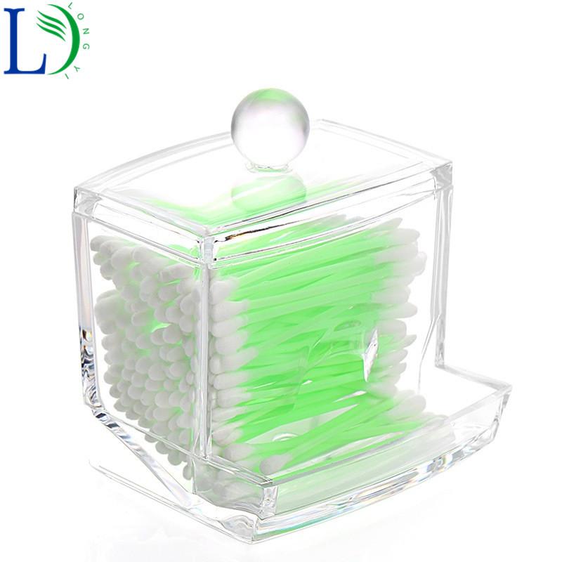 [해외]2017 크리 에이 티브 분명 아크릴 목화 면봉 스틱 스토리지 박스 투명 Q 팁 홀더 화장품 메이크업 Organizer 케이스 박스 포장/2017 Creative Clear Acrylic Cotton Swabs Stick Storage Box Transparen