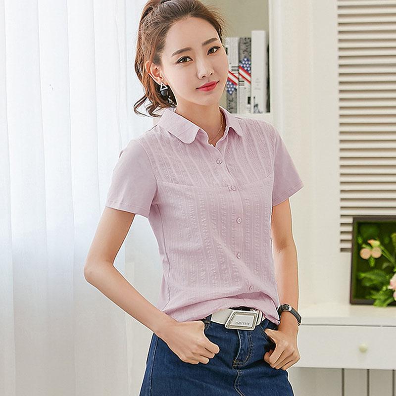 [해외]짧은 Retail 셔츠 여성 블라우스 코튼 셔츠 자수 블라우스 더하기 여름 여름 길어야 chemise femme blusas mujer de moda 2017/Short sleeve shirt women blouses cotton shirts embroidery