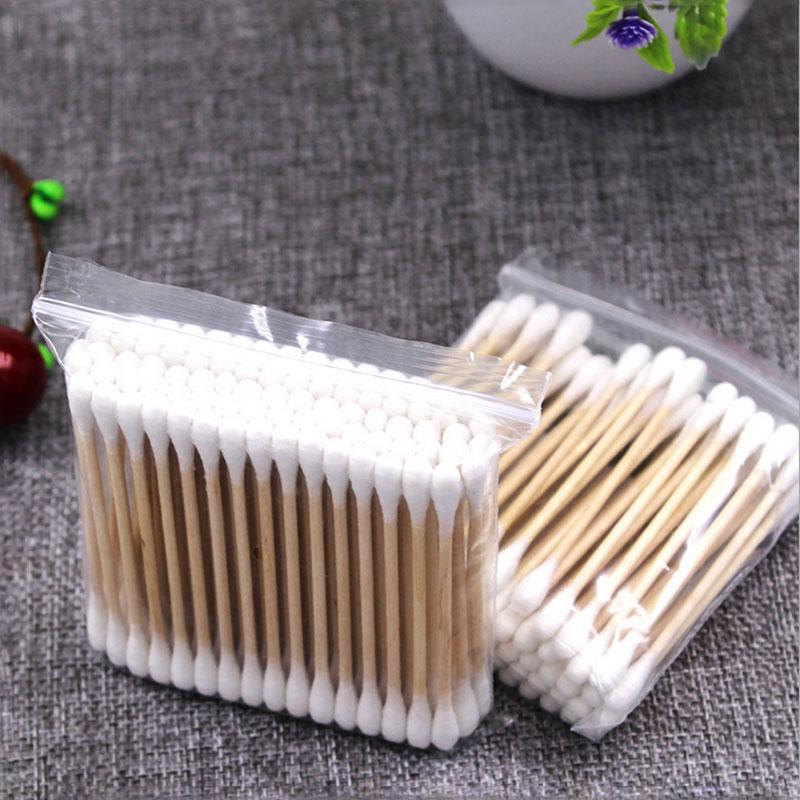 [해외]10Pack 더블 헤드 목화 면봉 화장 솜 싹 나무 스틱 코 귀 청소 여성 메이크업 목화 면봉 건강 관리 도구/10Pack Double Head Cotton Swab Cosmetic Cotton Buds Wood Sticks Nose Ears Cleaning W