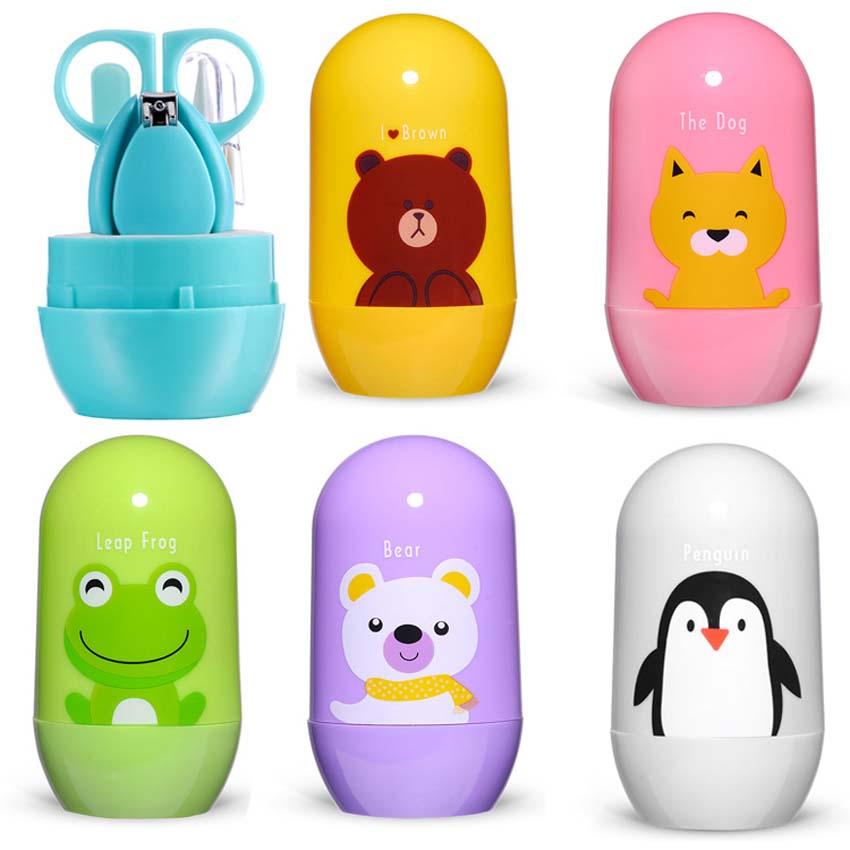 [해외]4pcs / set 아기 손질 실용 클리퍼 트리머 클린 족집게 세트 휴대용 유아 신생아 손톱 케어 손질 키트 세트/4pcs/set Baby Grooming Practical Clipper Trimmer Clean Tweezers Set Portable Infan