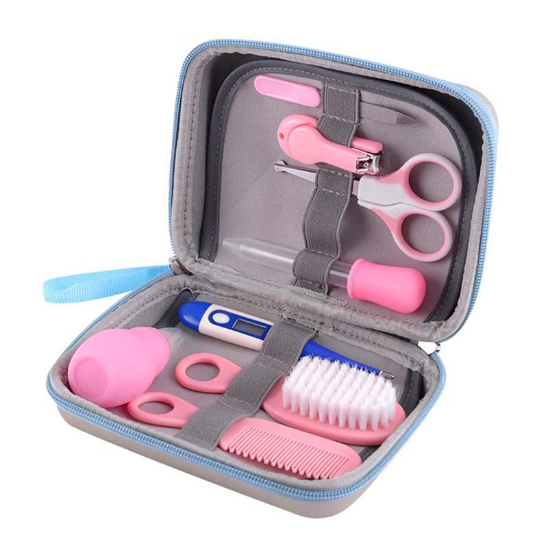 [해외]8pcs 아기 손질 관리 매니큐어 세트 건강 관리 키트 손톱 머리 매일 간호사 도구 아기 안전 가드 제품/8pcs Baby Grooming Care Manicure Set Healthcare Kit Nail Hair Daily Nurse Tool Baby Saf
