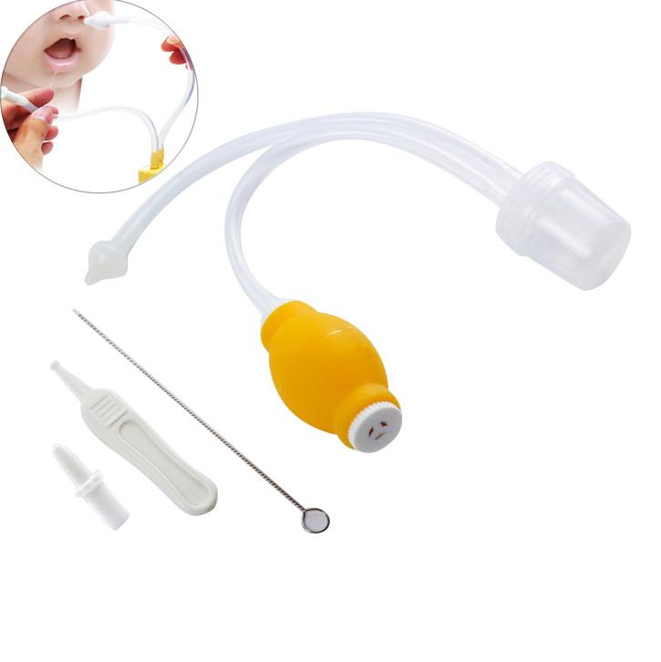 [해외]아기 비강 흡입기 세트 베이비 케어 제품 Anti-backwash Device 흡입 신생아 코 흡인기 클리너 Snot Nose Cleaner/Baby Nasal Aspirator Set Baby Care Products Anti-backwash Device Su
