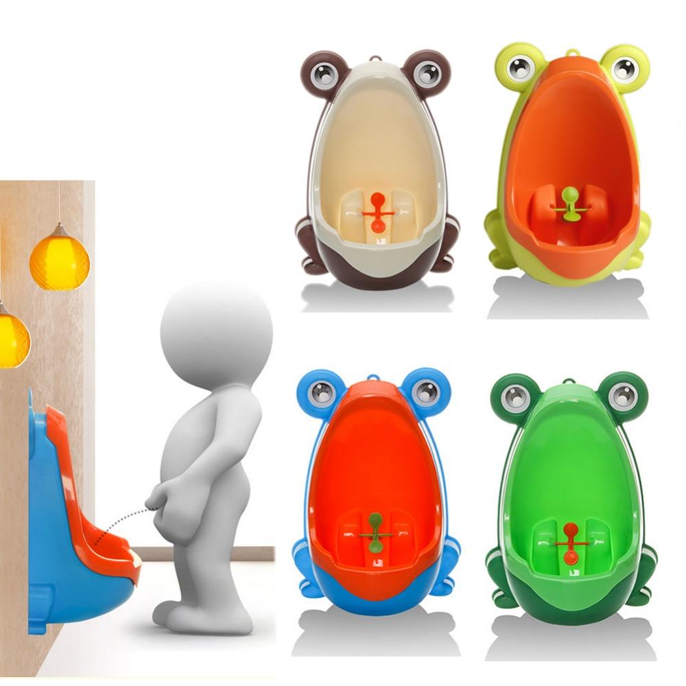 [해외]귀여운 인체 공학적 개구리 어린이 아기 변기 화장실 트레이너 소변기 소년 후크 키즈 변기 훈련 휴대용 화장실 풍차 0-6 년