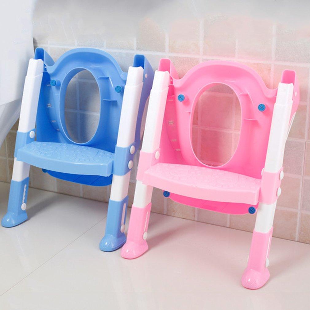 [해외]접이식 어린이 변기 시트 커버 PP 변기 조정 접이식 의자 어린이 교육용 소변 기용 시트/Foldable Children Potty SeatLadder Cover PP Toilet Adjustable Folding Chair Pee Training Urinal