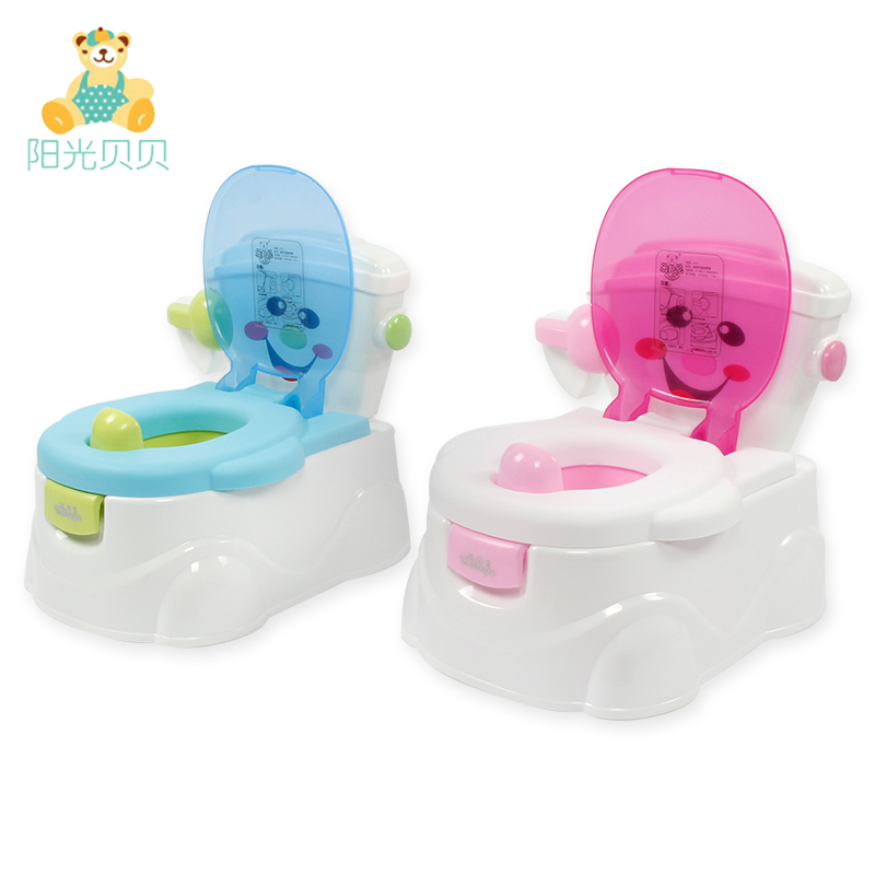 [해외]휴대용 아기 화장실 어린이 접는 사각 어린이 플라스틱 화장실 아기 화장실 훈련 의자 핑크 / 스카이 블루/Portable Baby Toilet Children Folding Potty Kids Plastic Toilet Baby Potty Training Cha