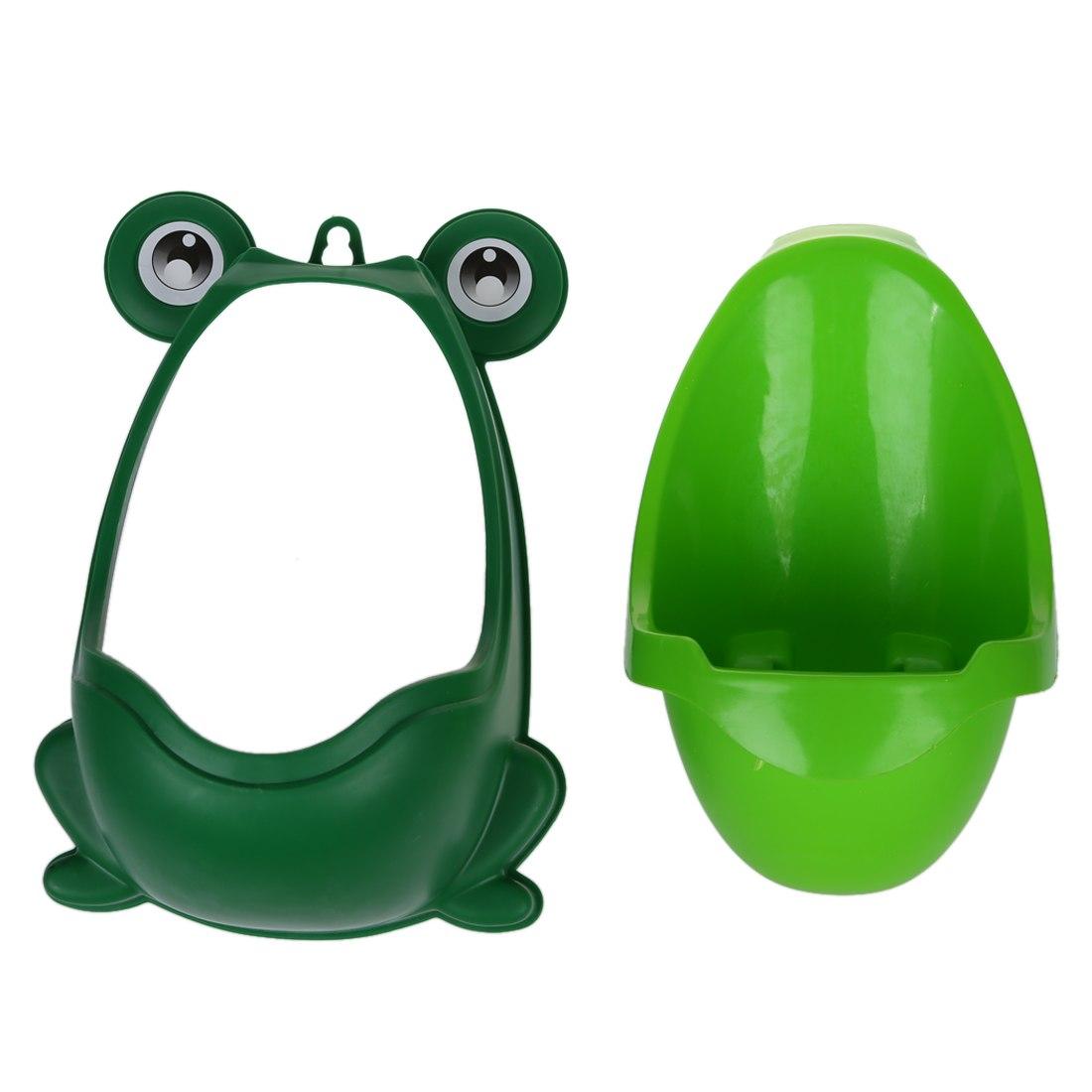 [해외]?베이비 보이즈 키즈 유아 화장실 훈련기 트레이너 미니 화장실 (개구리 그린)/ Baby Boys Kids Toddler Potty Training Pee Trainer Mini Toilet (Frog Green)
