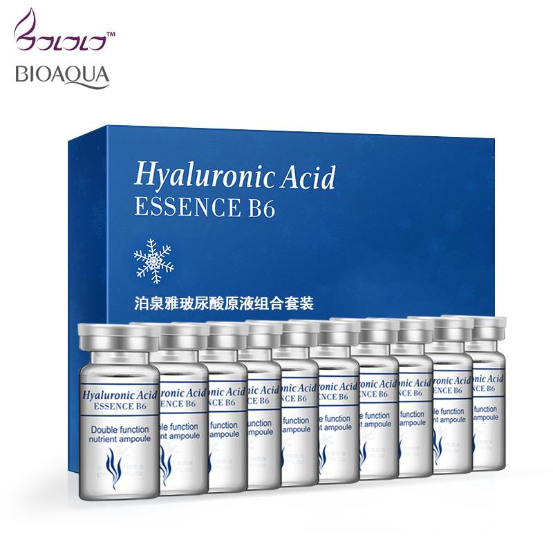 [해외]비 오카 10pcs / lot 세럼 모이스춰 라이징 히알루 론산 비타민 얼굴 보습 안티 링클 에이징 콜라겐 스킨 케어 에센스/BIOAQUA 10pcs/lot Serum Moisturizing Hyaluronic Acid Vitamins Facial moistur