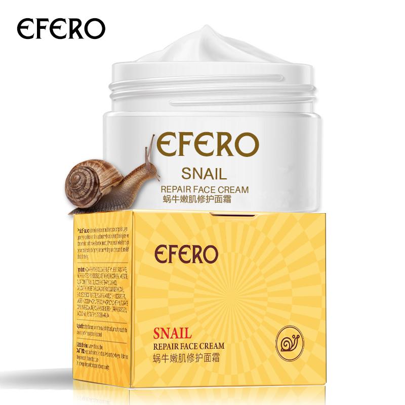 [해외]EFERO 달팽이 크림 노리 스킨 화이트닝 크림 모이스춰 라이징 페이스 크림 에센스 안티 링클 뷰티 딥 리페어 페이스 케어/EFERO Snail Cream Nourishing Skin Whitening Cream Moisturizing Face Cream Ess