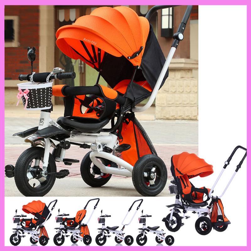 [해외]안티 자외선 안전 울트라 Pram 역방향 핸들 세 바퀴 회전 좌석 접이식 아기 유아 유모차 자전거 Tribike 유모차/Anti UV Safety Ultra Pram Reverse Handle Three Wheels Swivel Seat Foldable Baby