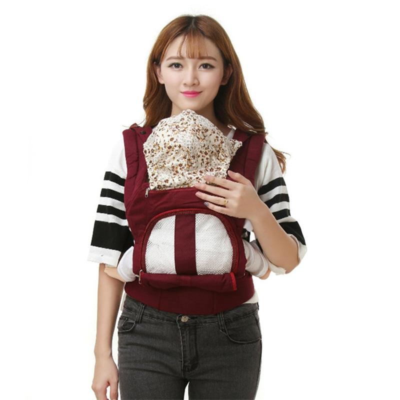 [해외]다기능 아기 캐리어 인체 공학적 키즈 슬링 백팩 통기성 면직물 전면 운반 대 3 ~ 30 개월 유아/Multifunctional Baby Carrier Ergonomic Kids Sling Backpack Breathable Cotton Front Facing