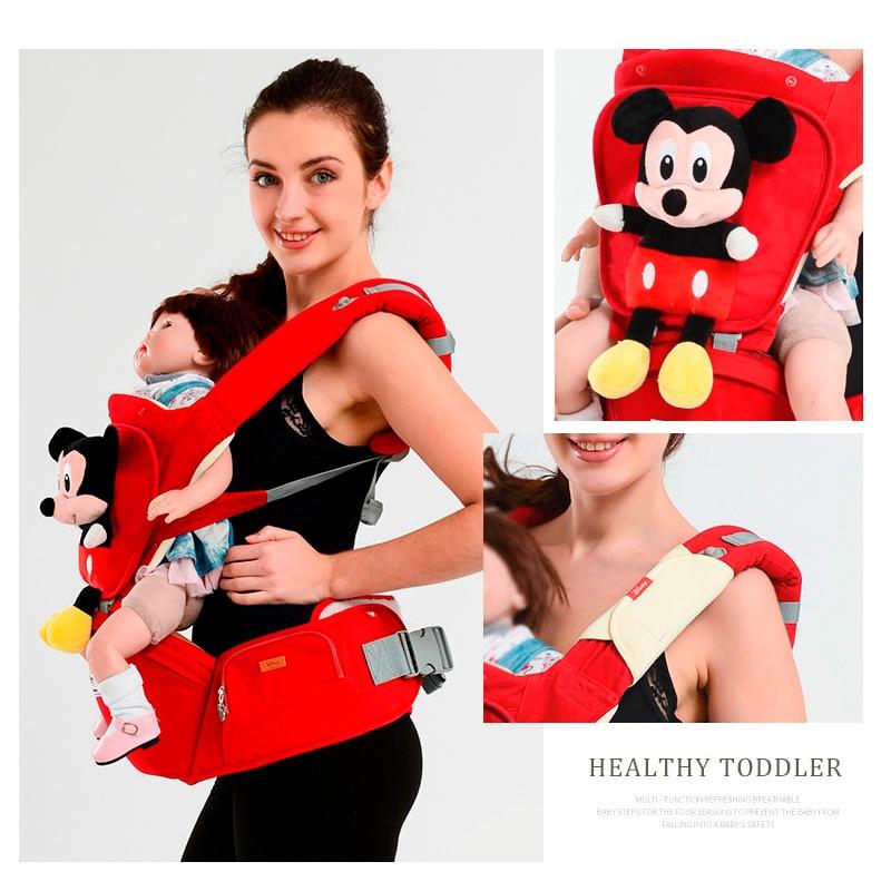 [해외]디즈니 베이비 캐리어 인체 공학 유아용 만화 배낭 Hipseat 신생아 아기 캥거루 통기성 앞면 캐리어에 직면/Disney Baby Carrier Ergonomic Toddler Cartoon Backpack Hipseat For Newborn Baby Kang