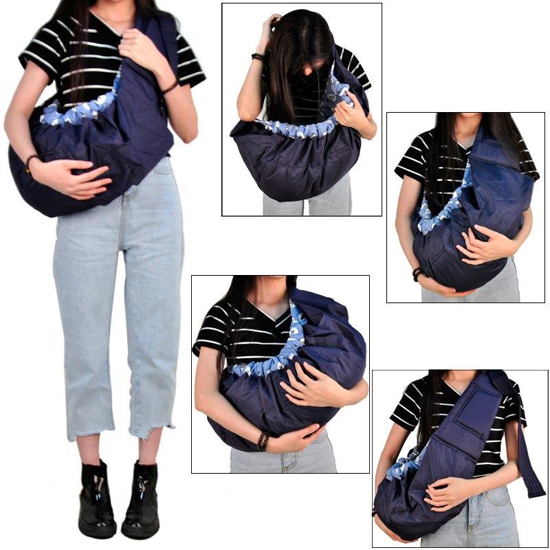[해외]경제 아기 캐리어 전면 직면 유기 코튼 스트레치 슬링 배낭 유아 사이드 랩 바구니 아기 케어 1pcs 5 색/Economic Baby Carrier Front Facing Organic Cotton Stretch Sling Backpack Infant Side