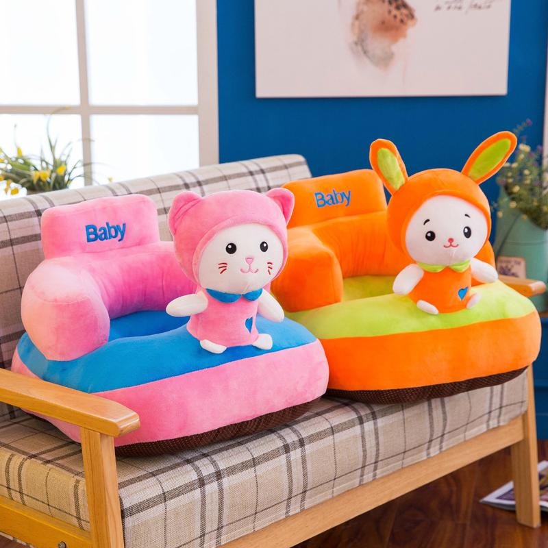 [해외]새 버전 귀여운 부드러운 아기 지원 좌석 동물 스타일 어린이 좌석 의자 좌석에 두꺼운 바닥 신생아 들어/New Version Cute Soft Baby Support Seat Animal Style Children Kids Learning to sitting C