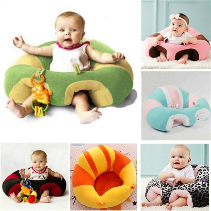 [해외]아기 소파 플러시 부드러운 귀여운 동물 모양의 아기 앉아 의자에 앉아 자세를 유지 편안하게 안전한 소파 지원 좌석/Baby Sofa Plush Soft Cute Animal Shaped Baby Learning To Sit Chair Keep Sitting Po