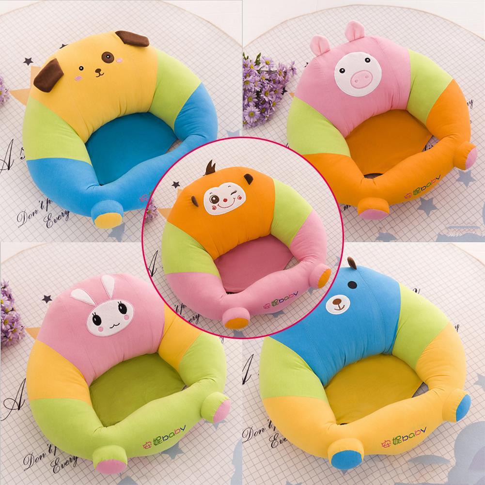 [해외]?베이비 시트 소파 견면 벨벳 지원 좌석 앉아 동물의 스타일 유아 부드러운 소파 앉아 자세를 편안하게 의자/ Baby Seats Sofa Plush Support Seat Learning To Sit Cartoon Animal Style Infant Soft S